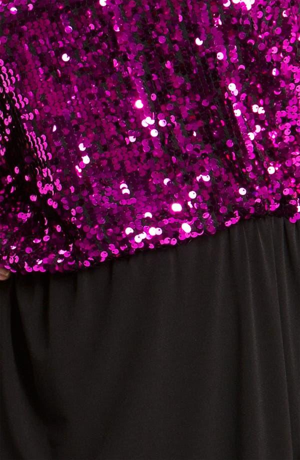 Alternate Image 3  - Donna Ricco Sequin Blouson Dress (Plus)