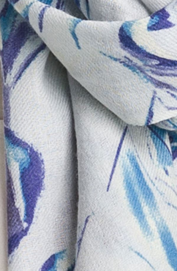 Alternate Image 2  - Nordstrom 'Roses' Wool & Cashmere Scarf