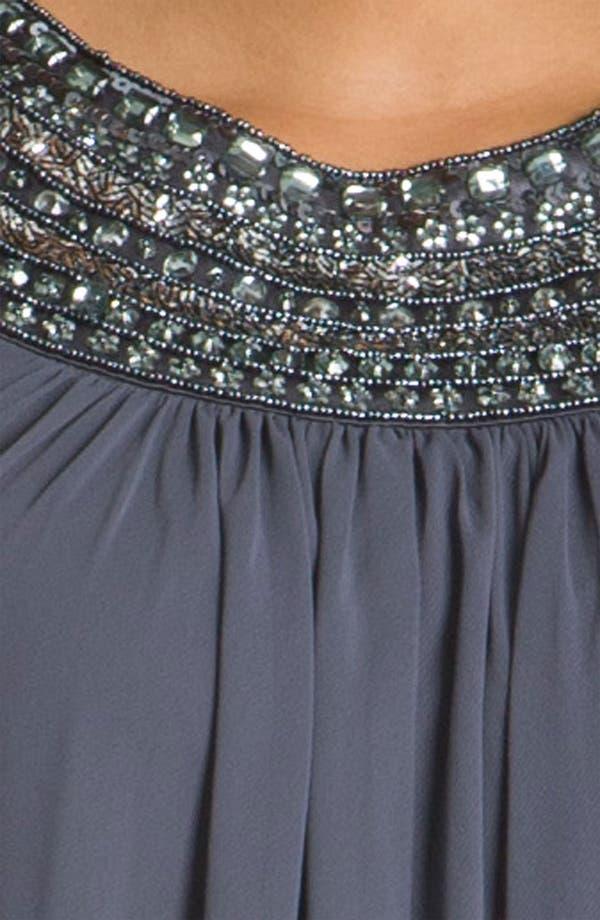 Alternate Image 3  - JS Boutique Beaded Chiffon Trapeze Dress