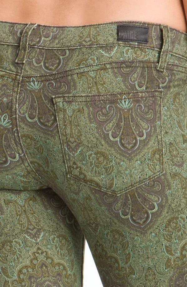 Alternate Image 3  - Paige Denim 'Verdugo' Print Skinny Jeans (Estate Green Paisley)