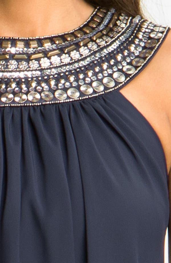 Alternate Image 3  - JS Boutique Embellished Chiffon Trapeze Dress
