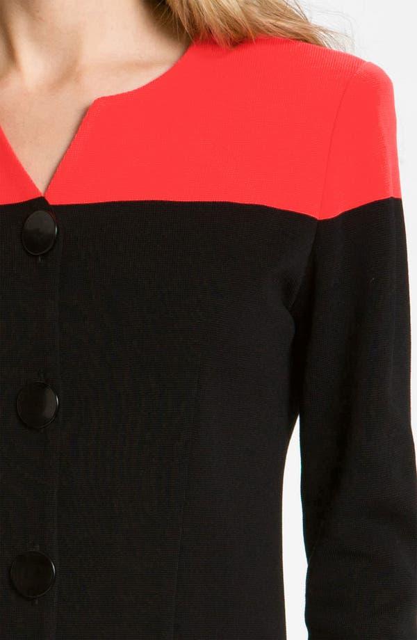 Alternate Image 3  - Exclusively Misook Colorblock Jacket