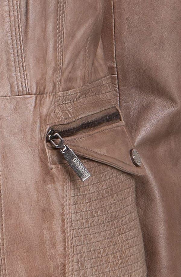 Alternate Image 4  - Bernardo Topstitch Leather Jacket