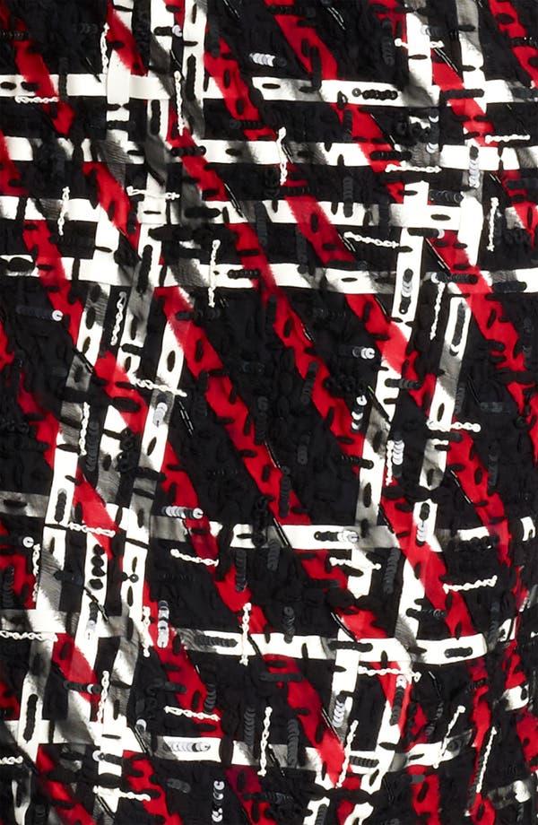 Alternate Image 3  - Oscar de la Renta Georgette Embroidered Tweed Dress