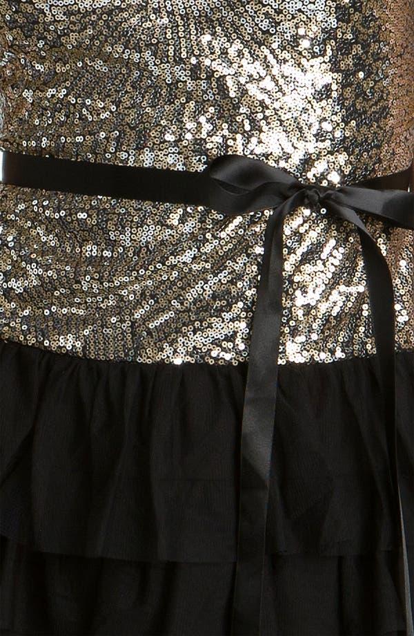 Alternate Image 3  - As U Wish Sequin & Ruffle Party Dress (Juniors)