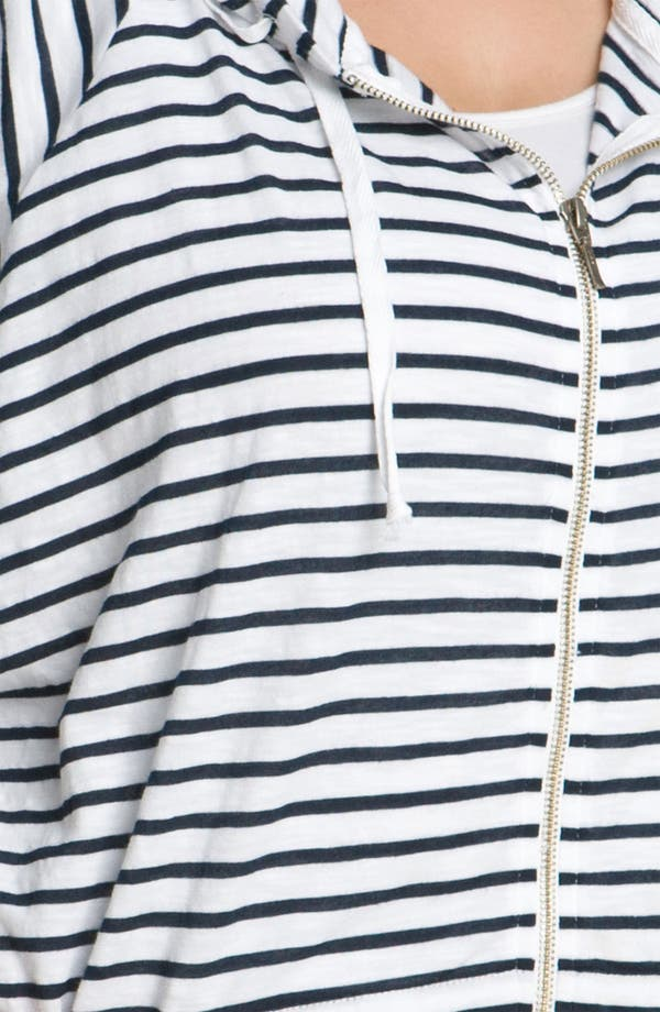 Alternate Image 3  - Allen Allen Slub Knit Stripe Hoodie (Plus)