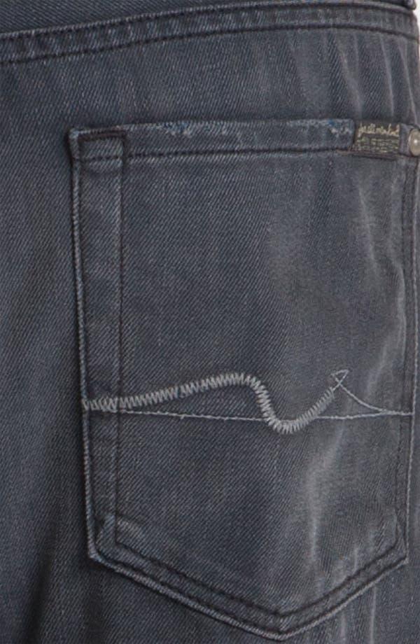 Alternate Image 4  - 7 For All Mankind® Standard Straight Leg Jeans (Grey Harbor)