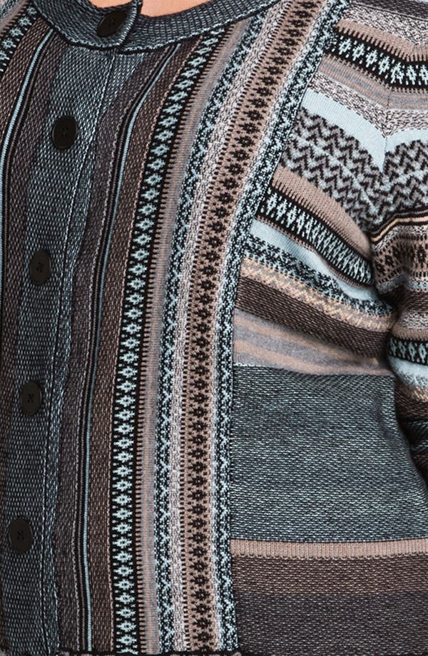 Alternate Image 3  - Nic + Zoe Stripe Knit Cardigan (Plus)