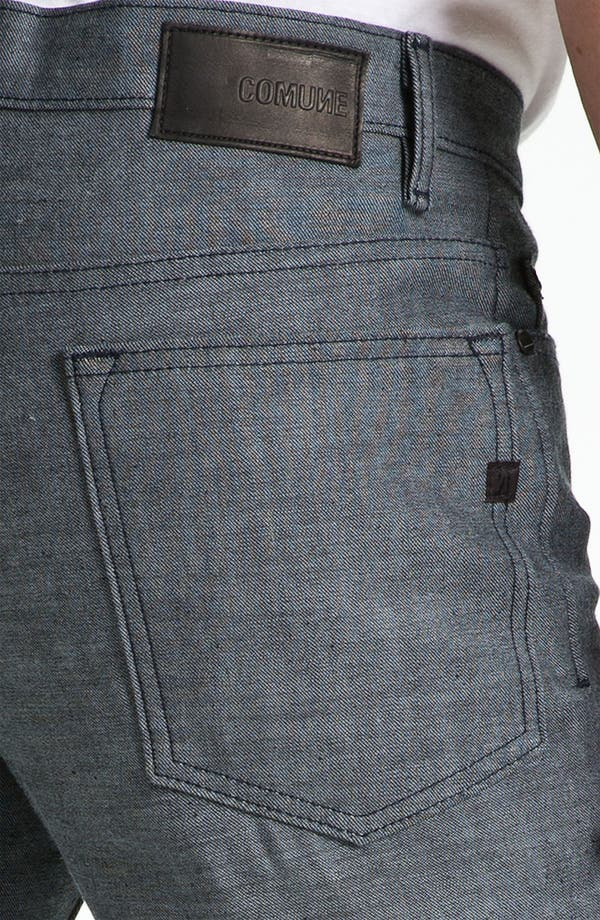 Alternate Image 4  - Comune 'Ricky' Slim Straight Leg Jeans (Speckled Backside of Indigo)