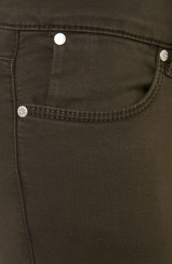 Alternate Image 3  - Topshop Moto 'Leigh' Skinny Jeans (Dark Khaki) (Petite)