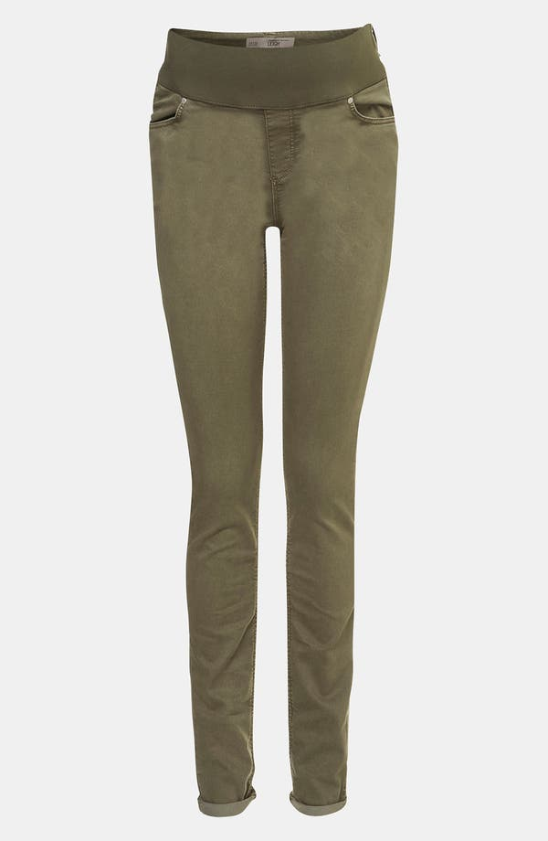 Main Image - Topshop 'Leigh' Vintage Wash Skinny Maternity Jeans