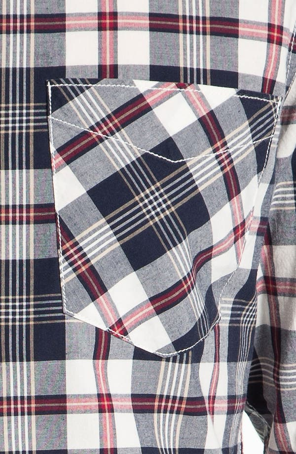 Alternate Image 3  - 1901 Plaid Cotton Poplin Shirt