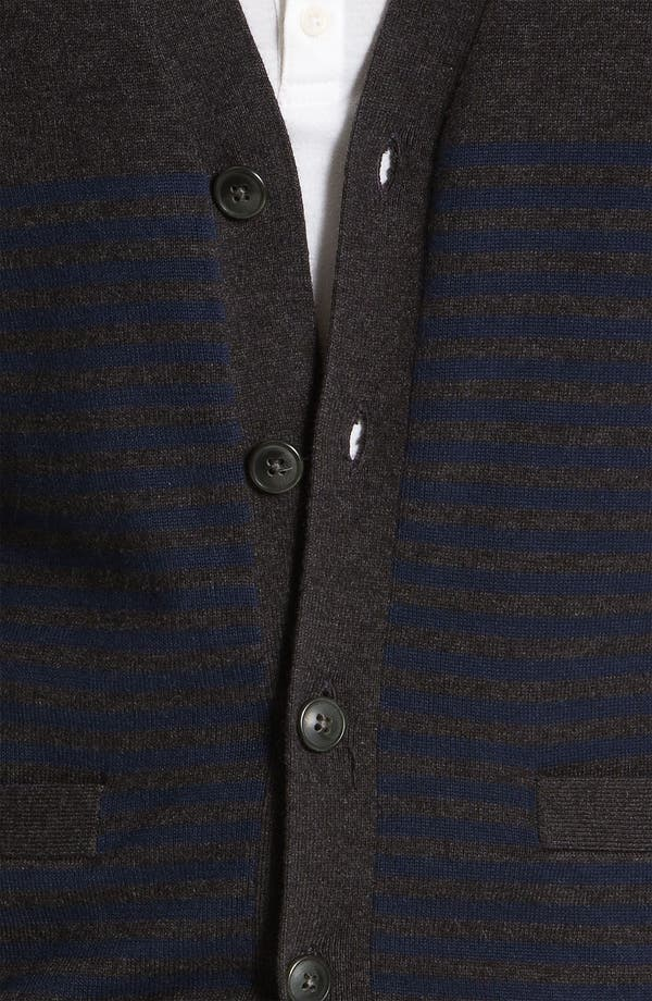 Alternate Image 3  - 1901 Stripe Cardigan
