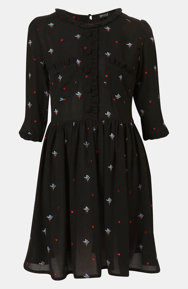 Alternate Image 1 Selected - Topshop Embroidered Tea Dress
