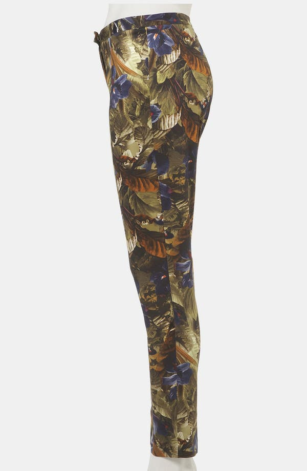 Alternate Image 4  - Topshop Print Skinny Pants