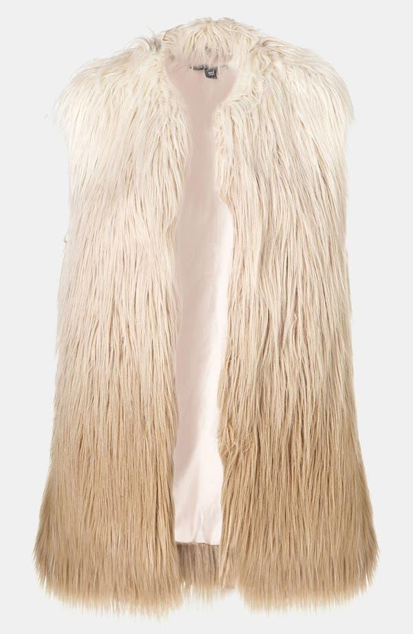 Alternate Image 1 Selected - Topshop Ombré Faux Fur Vest