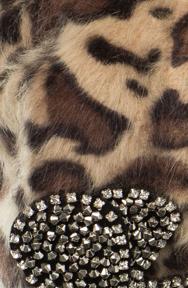 Alternate Image 2  - Betsey Johnson Leopard Print Bow Beret