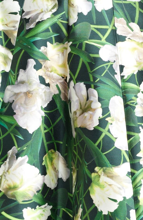 Alternate Image 3  - Oscar de la Renta Floral Print Swing Skirt