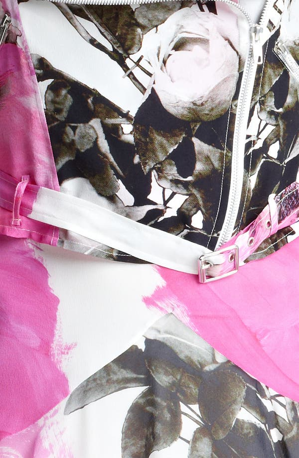 Alternate Image 4  - Christopher Kane Rose Print Biker Jacket