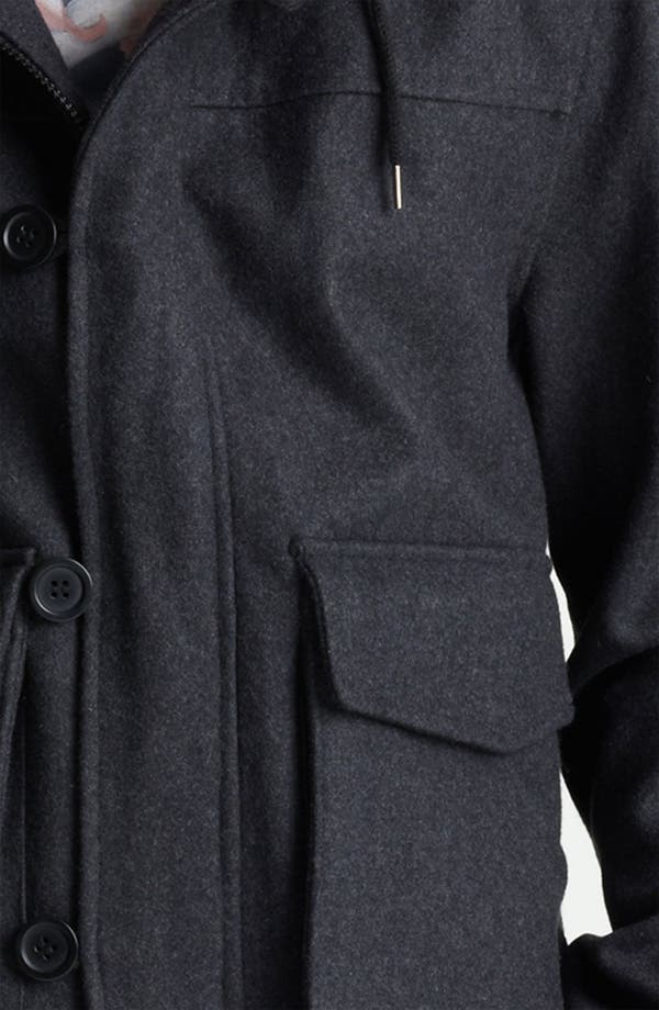 Alternate Image 3  - Topman Hooded Wool Blend Bomber Jacket