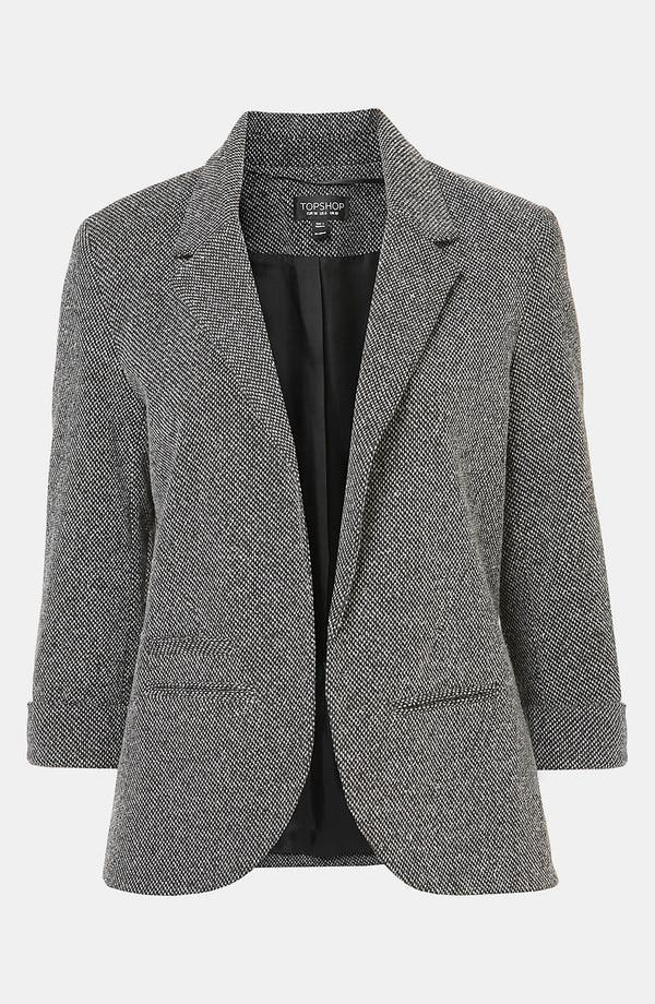 Alternate Image 1 Selected - Topshop 'Monty' Textured Blazer