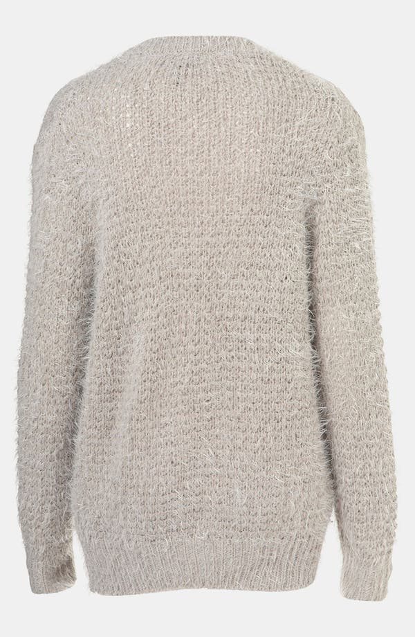 Alternate Image 2  - Topshop Feather Knit Cardigan