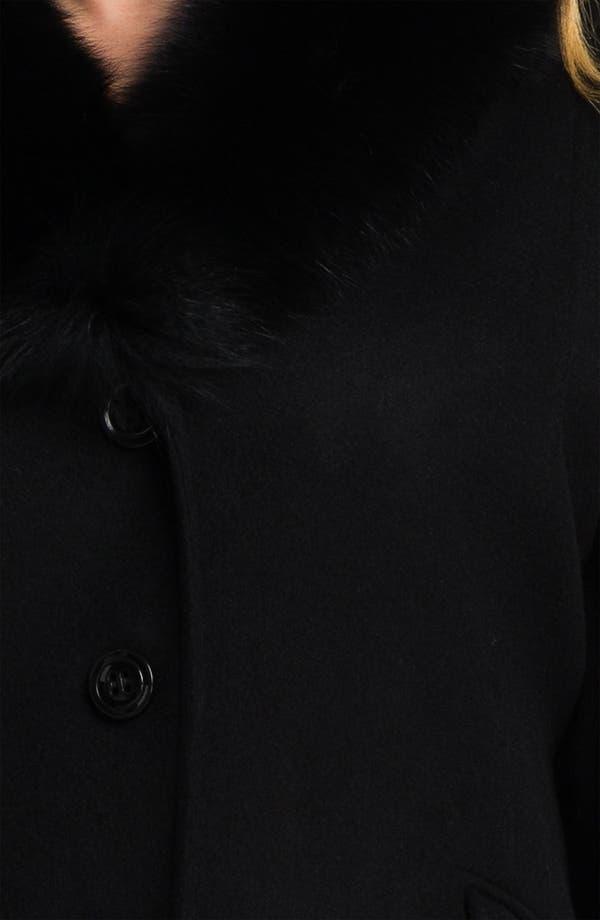 Alternate Image 3  - Sachi Wool Blend Coat with Genuine Fox Fur (Plus)