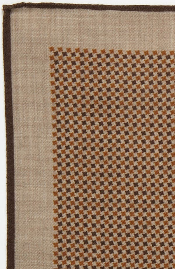 Alternate Image 3  - Ermenegildo Zegna Wool Pocket Square