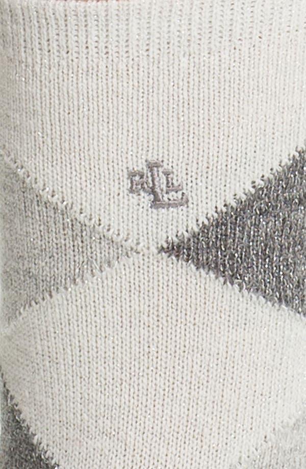 Alternate Image 2  - Ralph Lauren Argyle Crew Socks
