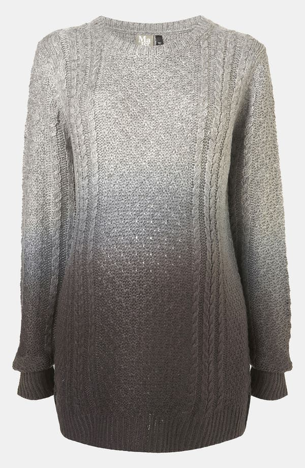 Alternate Image 1 Selected - Topshop Dip Dye Cable Knit Maternity Sweater