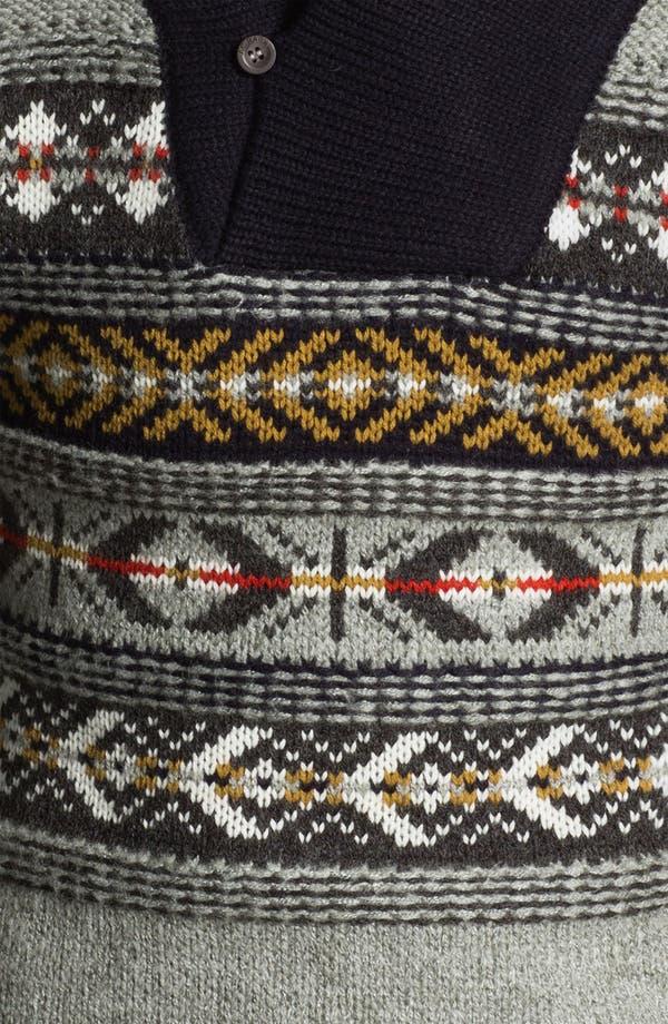 Alternate Image 3  - J.C. Rags Jacquard Shawl Collar Sweater