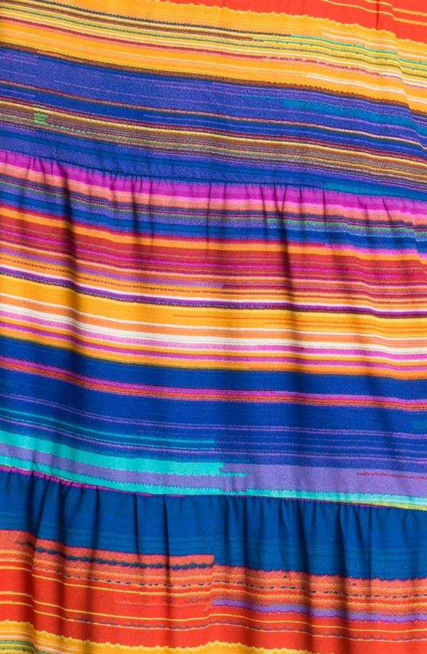 Alternate Image 3  - Tbags Los Angeles Multi Stripe Smocked Prairie Maxi Dress