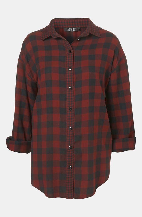 Main Image - Topshop 'Blackwatch Mix & Match' Tartan Shirt