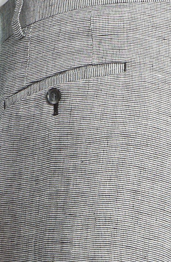 Alternate Image 3  - John W. Nordstrom® Flat Front Linen Trousers