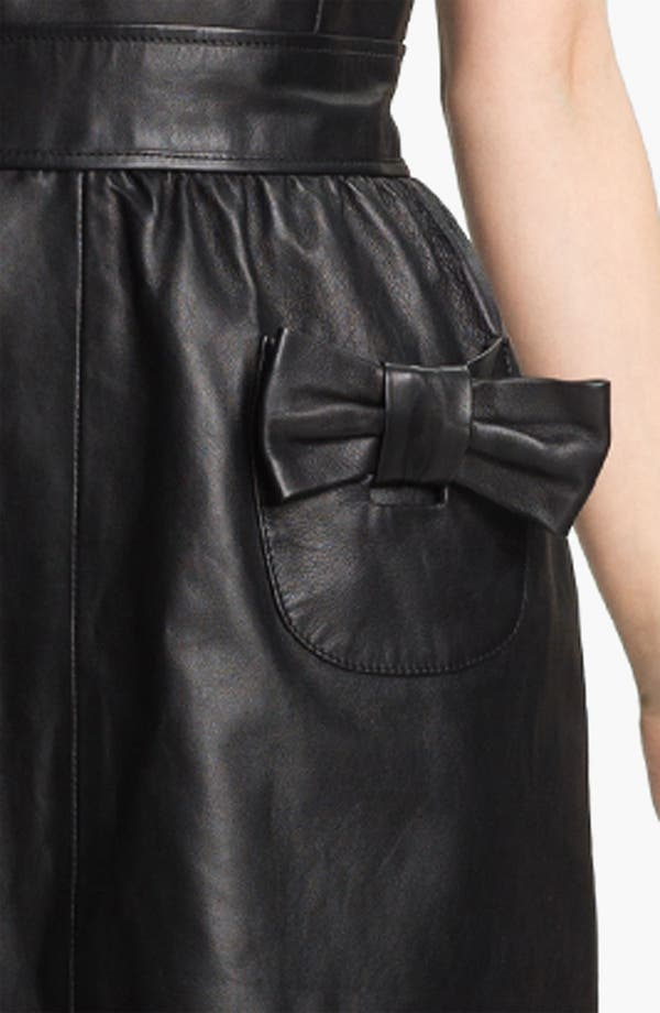 Alternate Image 3  - RED Valentino Bow Detail Leather Dress