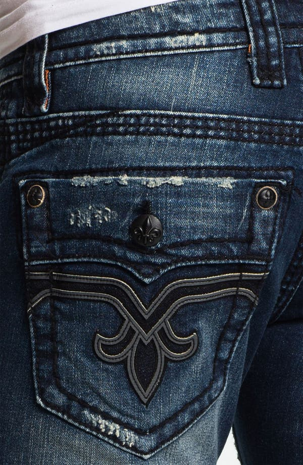 Alternate Image 4  - Rock Revival 'Spencer' Straight Leg Jeans (Medium Blue)