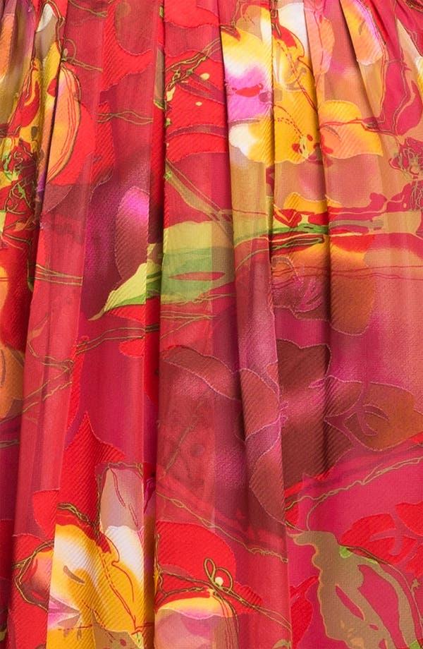 Alternate Image 3  - Donna Ricco Surplice Print Maxi Dress