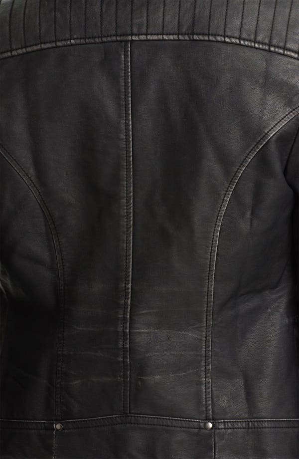 Alternate Image 3  - KUT From The Kloth Faux Leather Moto Jacket