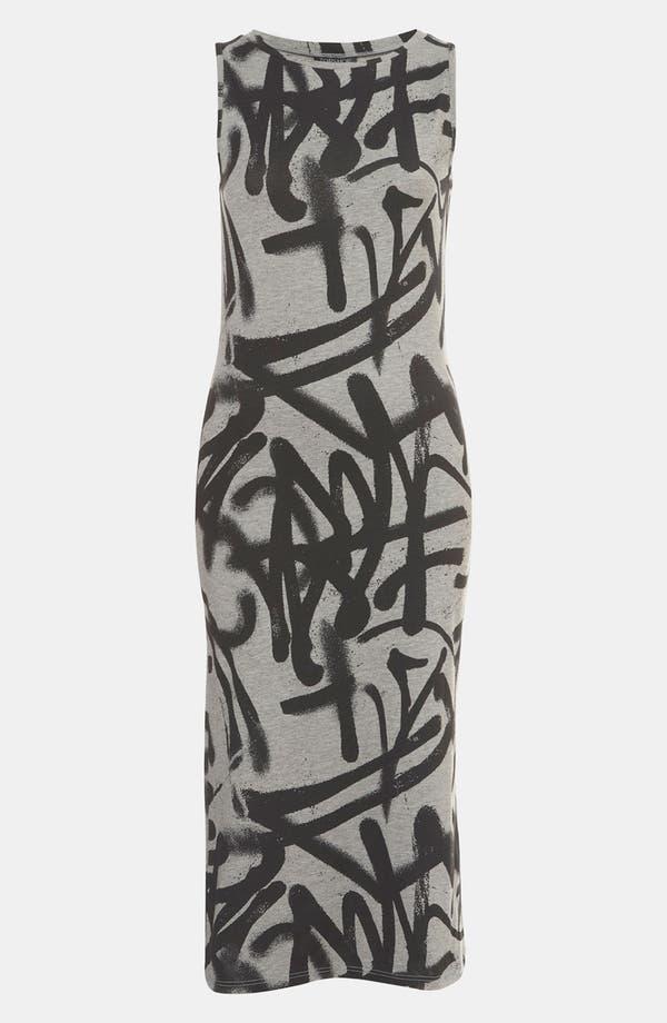 Alternate Image 1 Selected - Topshop 'Graffiti' Print Midi Tank Dress