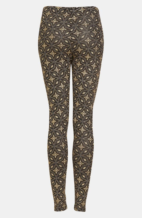 Alternate Image 2  - Topshop Glitter Star Print Leggings