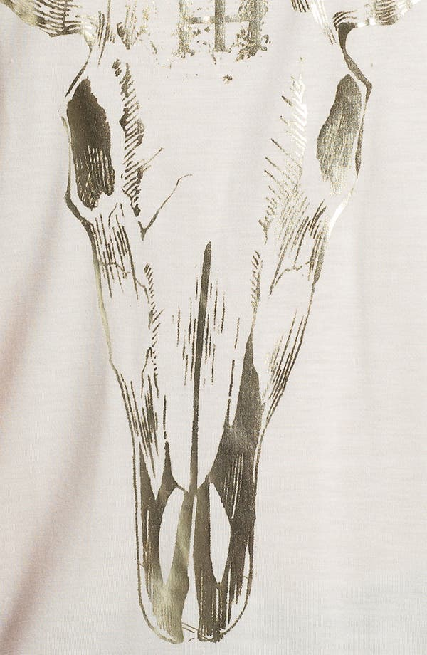 Alternate Image 3  - Haute Hippie 'Long Horn' Metallic Graphic Tank