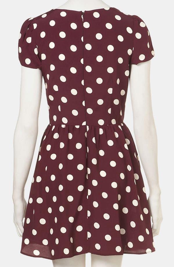 Alternate Image 2  - Topshop Polka Dot Skater Dress