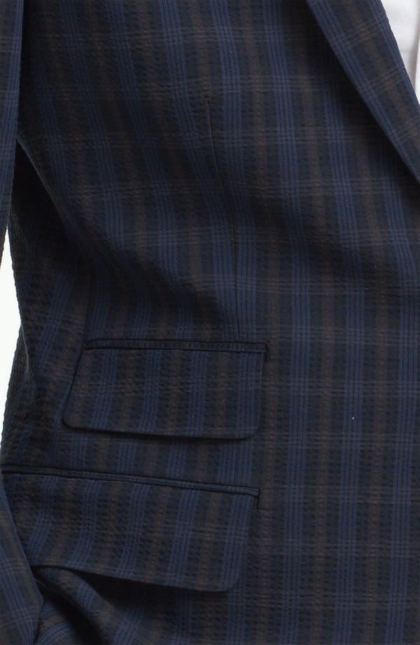Alternate Image 3  - John Varvatos Star USA Red Label Navy Plaid Blazer