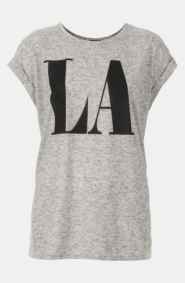 Alternate Image 1 Selected - Topshop 'LA' Roll Sleeve Graphic Tee
