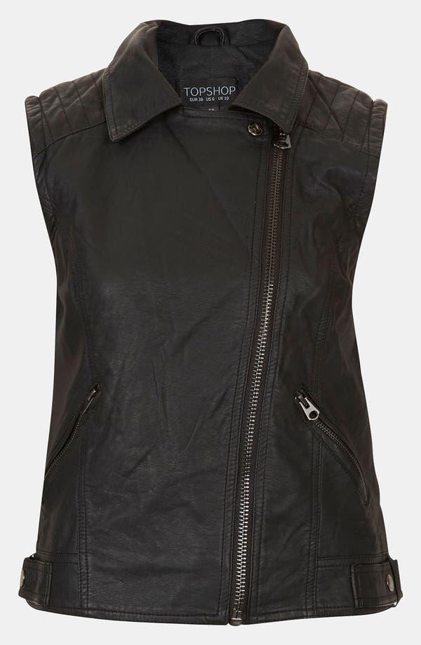 Alternate Image 3  - Topshop 'Maddy' Sleeveless Biker Jacket