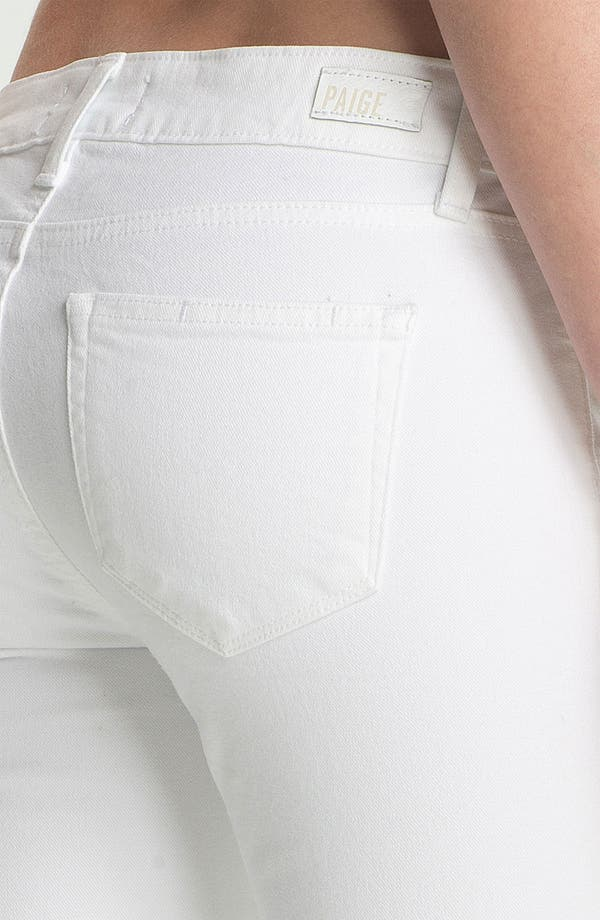 Alternate Image 3  - PAIGE 'Skyline' Ankle Peg Skinny Jeans (Optic White)