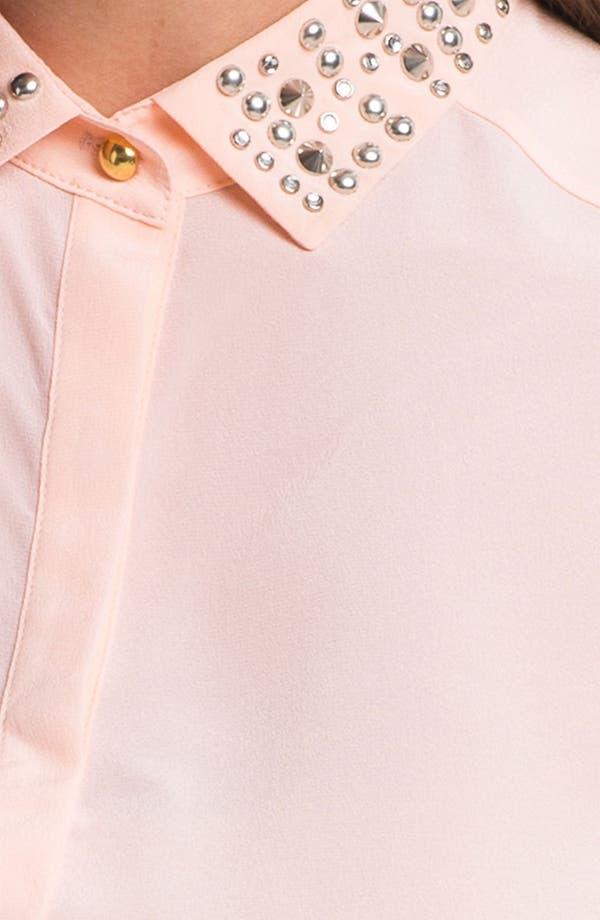 Alternate Image 3  - Rebecca Taylor Stud Collar Silk Top