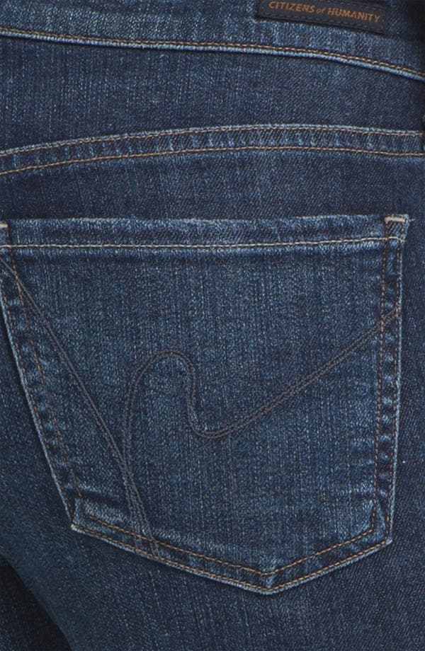 Alternate Image 3  - Citizens of Humanity Cutoff Crop Skinny Jeans (Taboo)