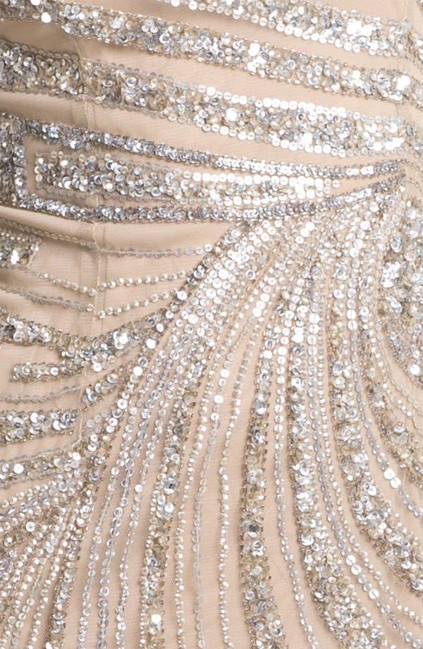 Alternate Image 3  - Adrianna Papell Embellished Mesh Dress