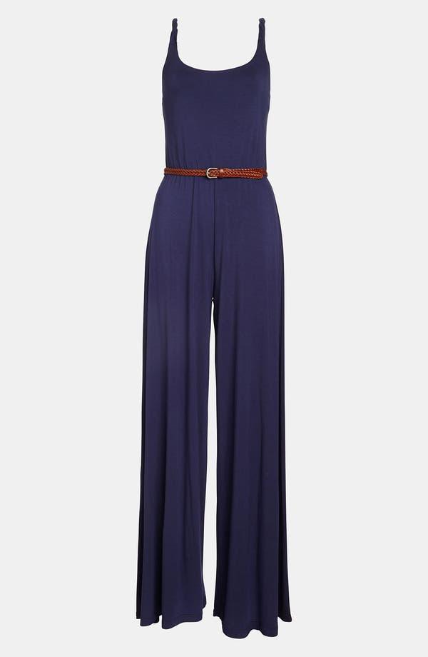 Alternate Image 1 Selected - BB Dakota Twisted Strap Jersey Jumpsuit